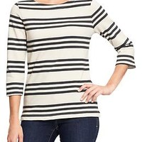 Women's Boat-Neck Jersey Tops