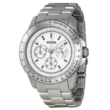 Fossil CH2745 Women's Stella Aluminum Silver Dial Chronograph Watch
