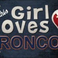 This Girl Loves Her  Broncos NFL Tag Sign License Plate