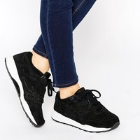 Reebok | Reebok Ventilator Perforated Black Suede Sneaker at ASOS