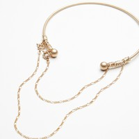 Free People Double Piercing Draped Choker