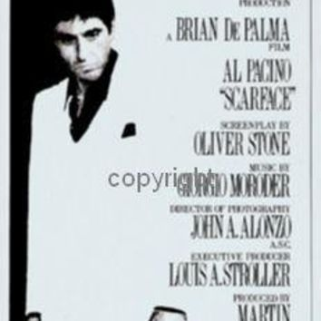 Scarface Insert Movie Poster 14X36