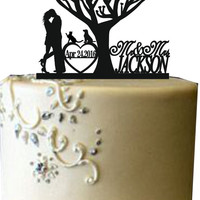 Bride and groom wedding cake topper, Mr and mrs wedding cake topper, unigue wedding cake topper,Funny cake topper,rustic wedding cake topper