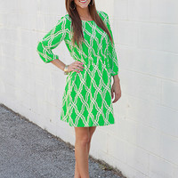 Miss Mary Mack Dress, green