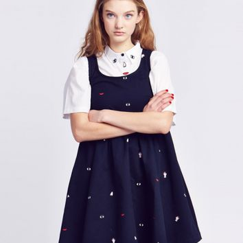 Lazy Oaf Body Parts Denim Dress - Everything - Categories - Womens