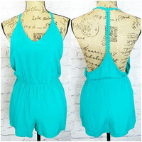TOES IN THE SAND ROMPER IN TEAL