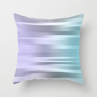 Blue Purple Gray  - Pillow Cover - Cover Only - Original Art - Made to Order