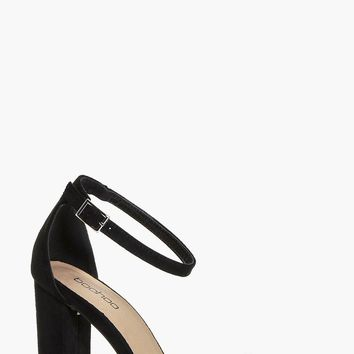 Robyn Block Heel Two Part Sandal | Boohoo