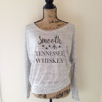 Smooth as Tennessee Whiskey Tank Top for Women - Whiskey Tank Tops - Funny Drinking Tshirts - Country Southern Tanks - Everyday Casual Tops