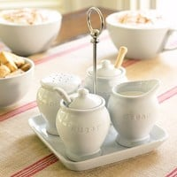 GREAT WHITE COFFEE CONDIMENT SET