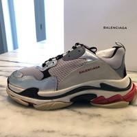 Balenciaga Triple S - Black/Red/Silver/3M (2018) Size 47 / 14 US - NIB - MINT!