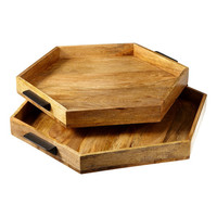 Hexagon Serving Tray - Set of Two