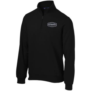 The Ultimate Fan Of The New England Patriots Quarter-Zip Embroidered Sweatshirt