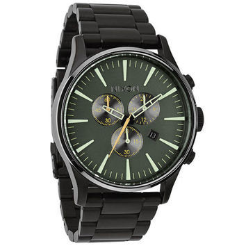 Nixon The Sentry Chrono Watch Matte Black/Surplus One Size For Men 23423318201