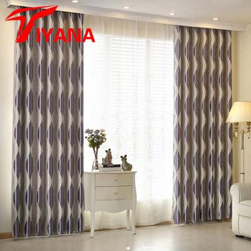 New Arrival Elegant Europe Striped Geometric Curtain For Door Living Room Bedroom Kitchen Window Curtain Drape Panel wp390#30