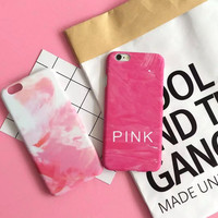 High-quality Fashion Pink Gradient Cover for iPhone 7 7Plus & iPhone 6 6s Plus & iPhone 5s se Case +Gift Box-D99