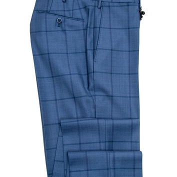 Incotex Blue Windowpane Dress Pant