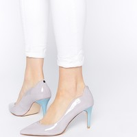 Faith Clementines Lilac Patent Scalloped Pumps