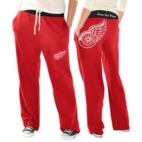 Detroit Red Wings Ladies Recruit Fleece Pants - Red