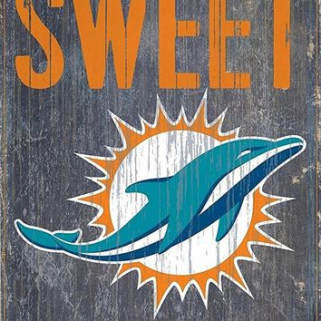 Miami Dolphins Home Sweet Home Premium Wood Sign