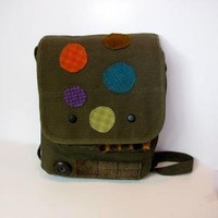 Military Army Bag Medium Satchel On a Mission by stalwartsatchels