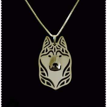 Unique Husky Pendant Necklace