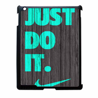 Nike Just Do It Wood Colored Darkwood Wooden Fdl iPad 3 Case