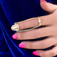Gold Armor Knuckle Ring | Haute1