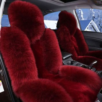Bear Fur Lit Fluffy Pink Seat Cover