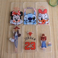 Clear Minnie Mickey 23 Jordan Phone Cases For Huawei Ascend P8 Lite P9 Lite Covers Silicon Soft Phone Bags For Huawei P8 Lite