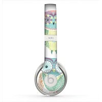 The Crazy Cartoon Owls Skin for the Beats by Dre Solo 2 Headphones