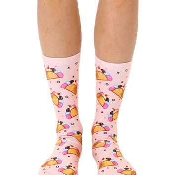 Ice Cream Taco Crew Socks