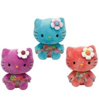 Ty Beanie Babies Hello Kitty - Rose, Turquoise and Purple Set of 3 Plush Toys