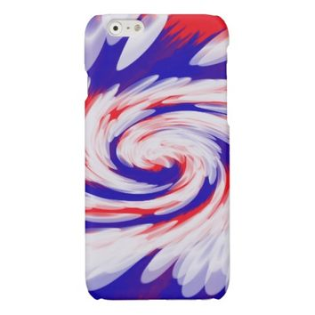 Patriotic Swirl Abstract Glossy iPhone 6 Case
