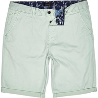 River Island MensMint green slim chino shorts