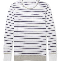 Michael Bastian - Striped Cotton and Linen-Blend T-Shirt | MR PORTER