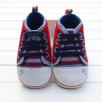 Baby Boy Shoes First Walkers Cartoon Lace-Up Baby Sneakers boys girls infant toddler First Walker Baby's Shoes