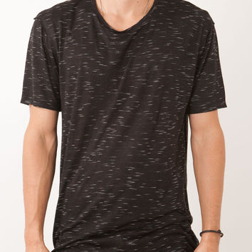 DRAPE KNIT TALL TEE BLACK