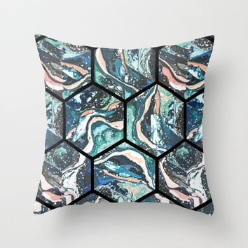 Abstract - Title- Pattern Throw Pillow by Salome