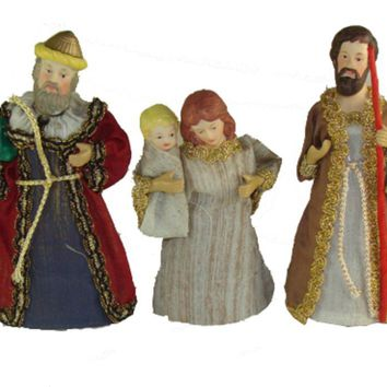 Club Pack of 120 Holy Family & Wise Men Christmas Nativity Figurines