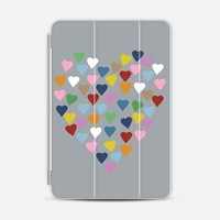 Hearts Heart on Grey iPad Mini 1/2/3 case by Project M | Casetify