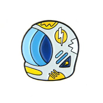 Space Helmet Enamel Pin