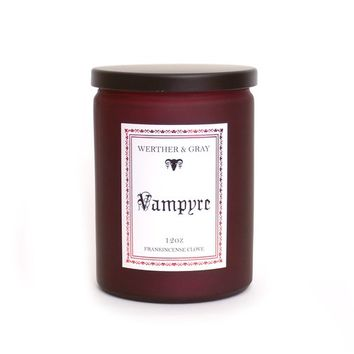 VAMPYRE, Scented Candle, Penny Dreadful, Frankincense, Clove, Gothic Decor, Horror Candle, Victorian Era, Literary Candles, Vampire