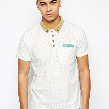 Bellfield Polo Shirt With Diamond Print