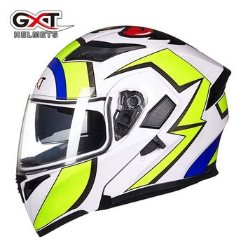 2017 New motorcycle racing Flip Up helmet GXT G902 open face motorbike motocross helmets dirt bike  size M  L XL