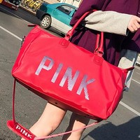 VS PINK new sequinned portable travel bag comes with a short, high-capacity duffel bag for women's waterproof gym bags