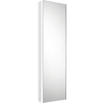 "LB Speci 12.8"" Wall Framed Rectangular Small Bath Vanity Bedroom Full Length Mirror - More Color Options Available"