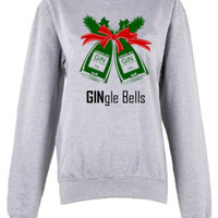 Gingle Bells crew neck sweatshirt pullover Christmas sweater jingle bells | eBay