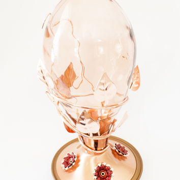 Best Copper & Glass Hummingbird Feeder - Beautiful Classic Design Hummers LOVE with 32 OZ Nectar! 100% Guaranteed!