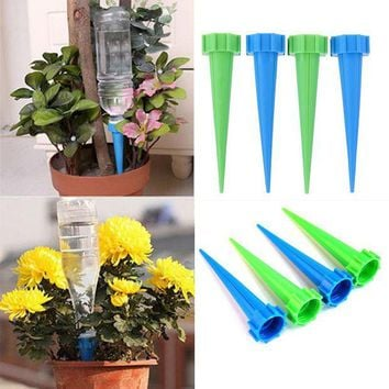 ONETOW 4Pcs Automatic Watering Irrigation Houseplant Spikes Garden Cone Watering Spike Plant Potted Flower Waterers Bottle Irrigation